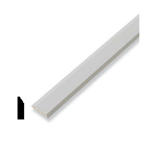 WM 946 3/8 in. x 1-3/8 in. x 96 in. Pine Primed Finger-Jointed Stop Moulding