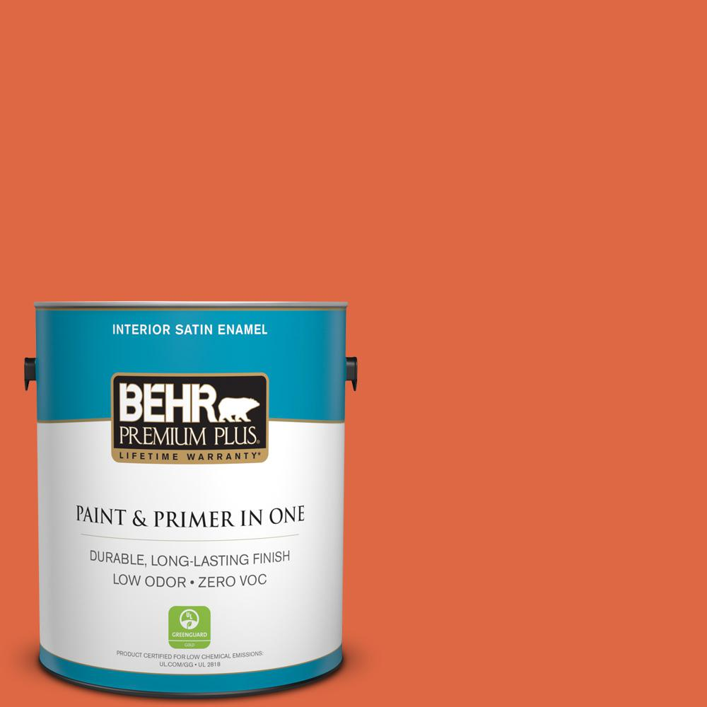 BEHR Premium Plus 1-gal. #P200-7 Bonfire Night Satin Enamel Interior Paint