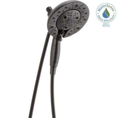 In2ition 2-in-1 5-Spray Dual Showerhead and Handheld Showerhead w/H2Okinetic and MagnaTite Docking in Venetian Bronze
