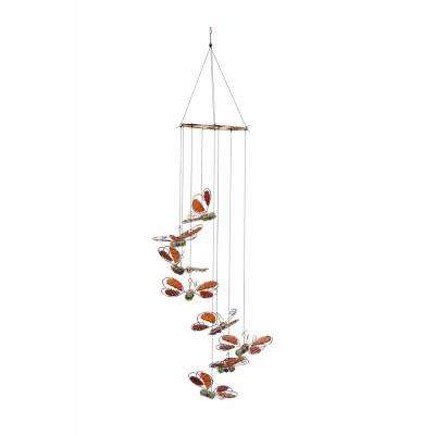 36 in. Red Butterfly Hanging Decor
