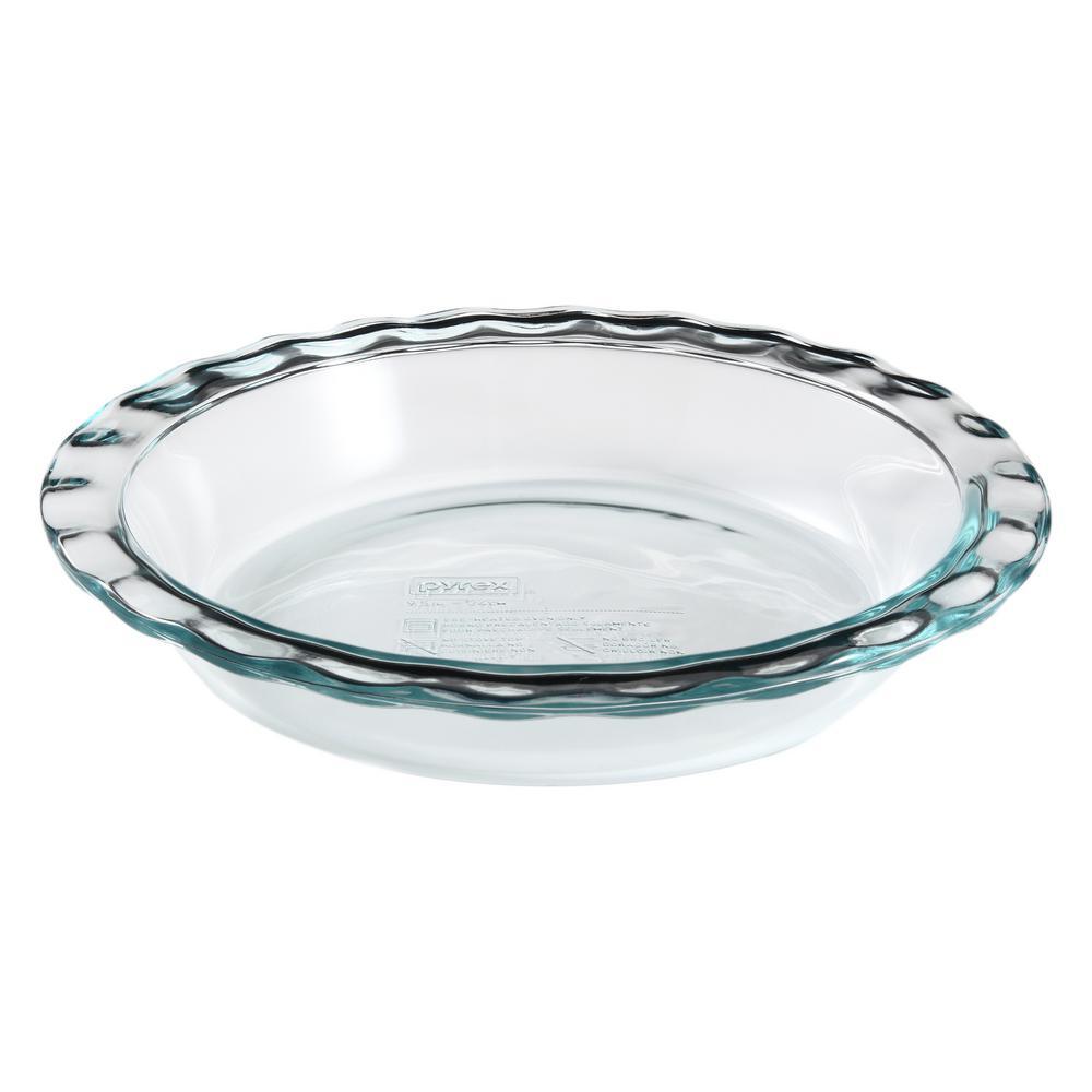 Pyrex 9.5 inch Glass Pie Baking Dish by Pyrex