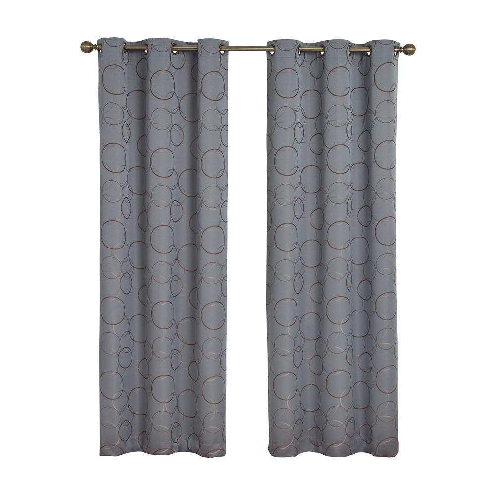 Meridian Blackout River Blue Curtain Panel 84 In Length