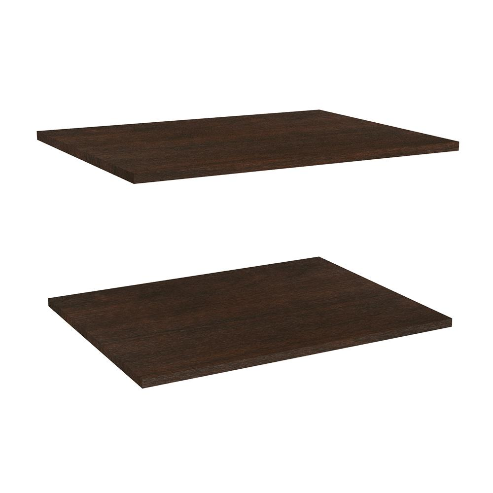Impressions 25 in. Deluxe Extra Shelves in Chocolate (2-Pack)