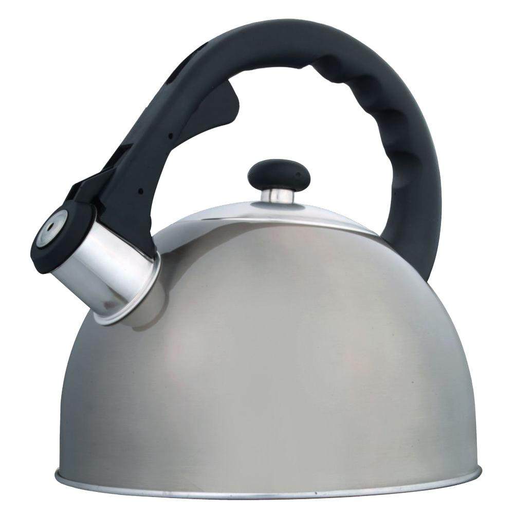 Creative Home Satin Splendor 11-Cup Tea Kettle with Stainless Steel in Metallic Smoke-DISCONTINUED