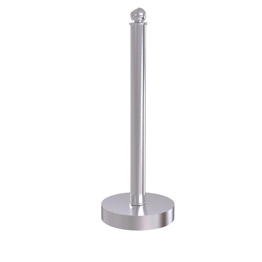 Contemporary Counter Top Kitchen Paper Towel Holder in Satin Chrome