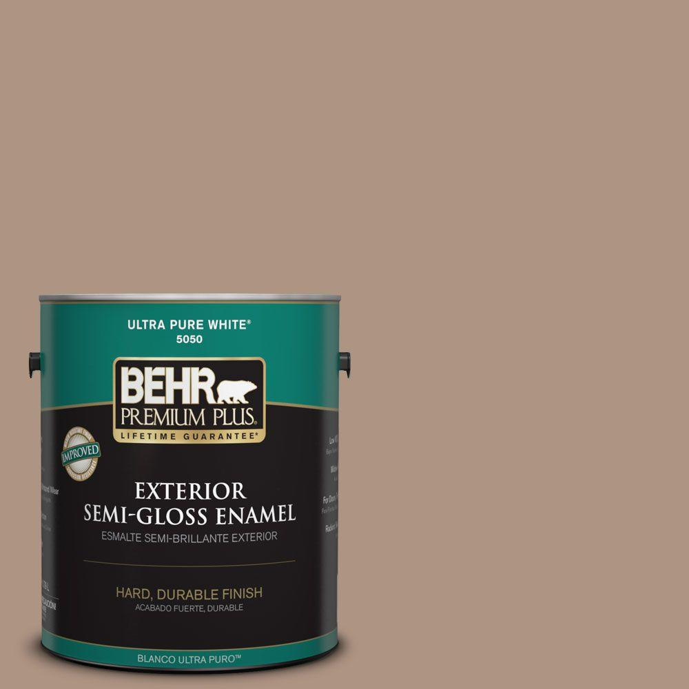 1-gal. #HDC-SP14-5 Mocha Tan Semi-Gloss Enamel Exterior Paint