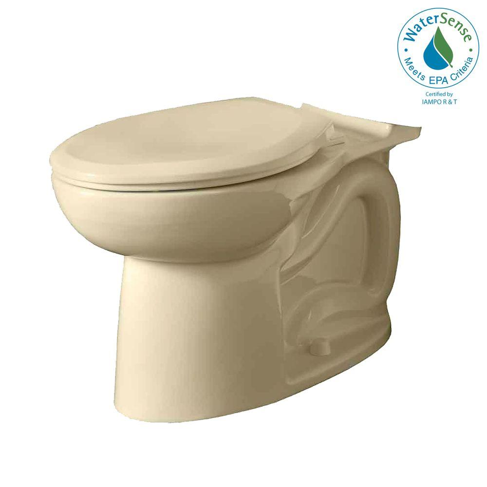 American Standard Cadet 3 Right Height Universal Elongated Toilet Bowl Only in Bone-DISCONTINUED