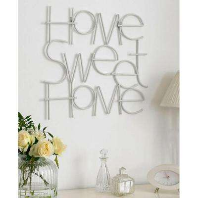 "17 in. x 25 in. ""Sweet Home"" by Graham and Brown Metal Wall Art"