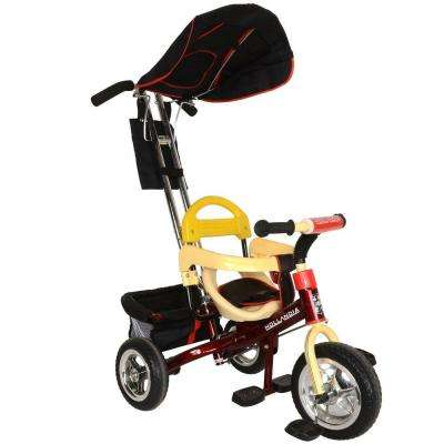 Deluxe Stroller and Tricycle 10 in. front Wheel in Maroon