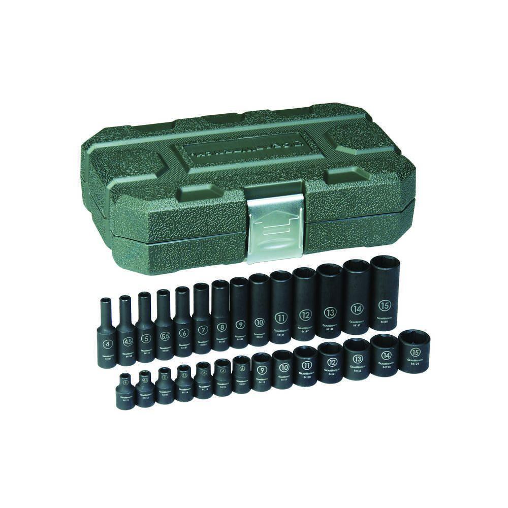 1/4 in. Drive Metric Impact Socket Set (28-Piece)