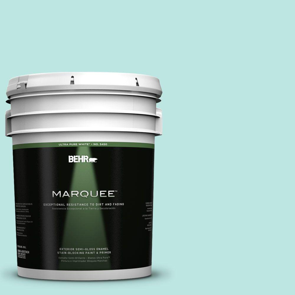 BEHR MARQUEE 5-gal. #490A-2 Cool Jazz Semi-Gloss Enamel Exterior Paint
