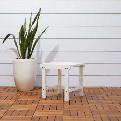 Bradley Square Wood Outdoor Side Table