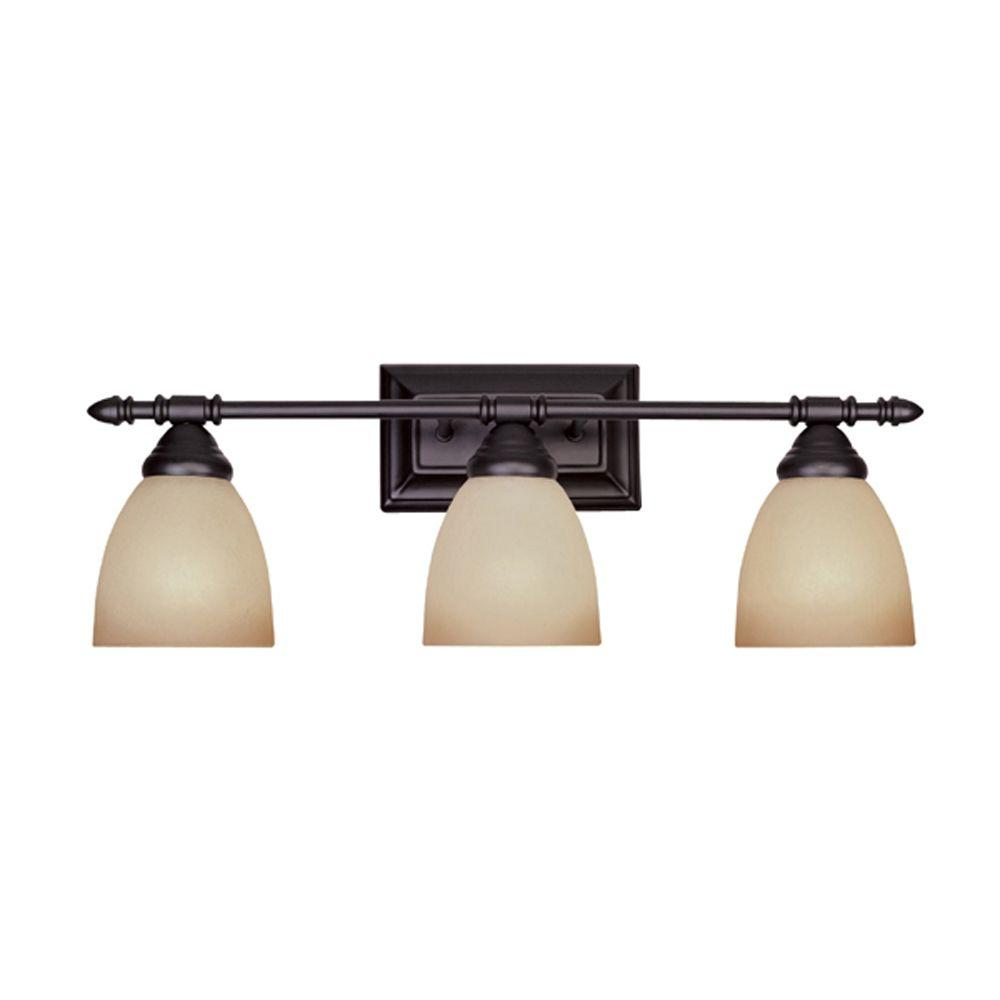 Designers Fountain Branson Collection 3 Light Oil Rubbed Bronze Wall Mount Vanity  Light Design Inspirations