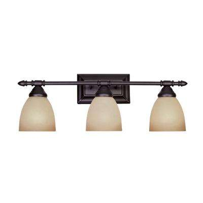 Branson Collection 3-Light Oil Rubbed Bronze Wall Mount Vanity Light