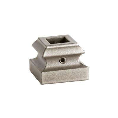 Square Hole 1.3125 in. Aluminum Level Baluster Shoe in Ash Grey