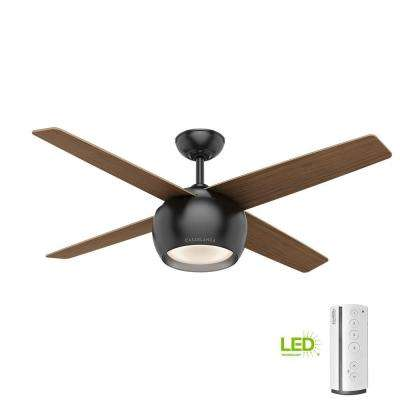 Black Downrod Mount Mid Century Modern Ceiling Fans Lighting