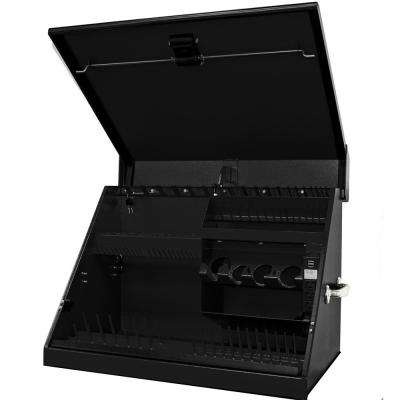 30 in. 0-Drawer Portable Workstation Top Chest in Textured Black