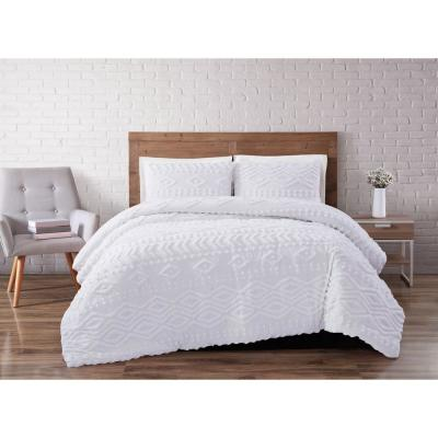 Jameson Tufted Chenille 3-Piece Full/Queen Duvet Cover Set