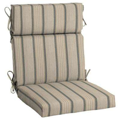 Sunbrella Cove Pebble High Back Outdoor Dining Chair Cushion