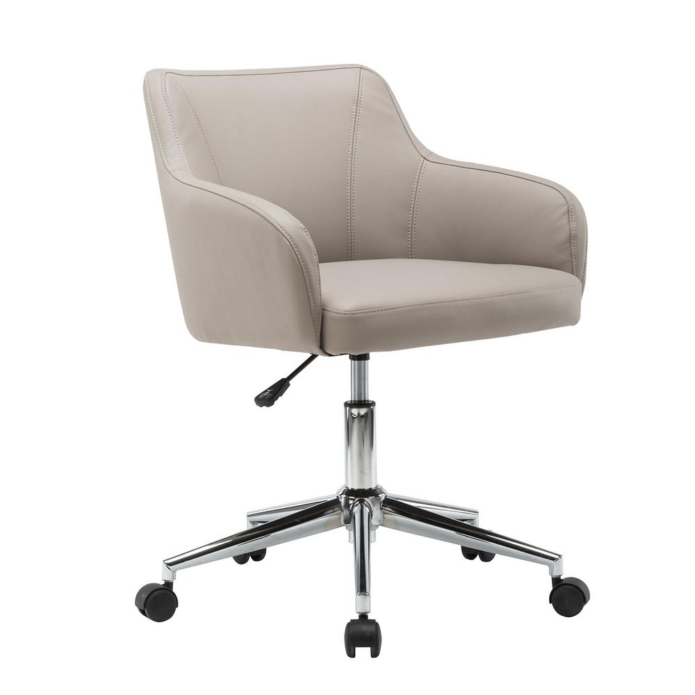 Techni Mobili Beige Comfortable And Classy Modern Home Office Chair Rta 1006 Bg The Home Depot