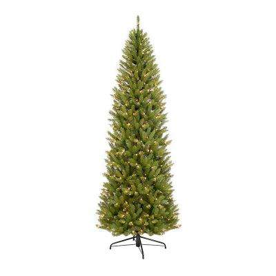 10 ft. Pre-Lit Incandescent Pencil Fraser Fir Artificial Christmas Tree with 650 UL-Listed Clear Lights