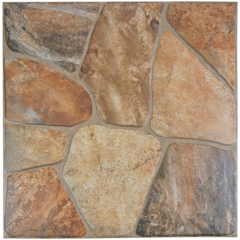 Merola Tile Lyon Caliza 17-3/4 in. x 17-3/4 in. Ceramic Floor and ...