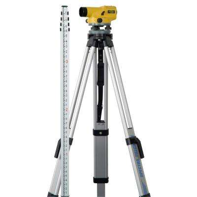 7.5 in. Hand Tool Automatic Level Package with Tripod