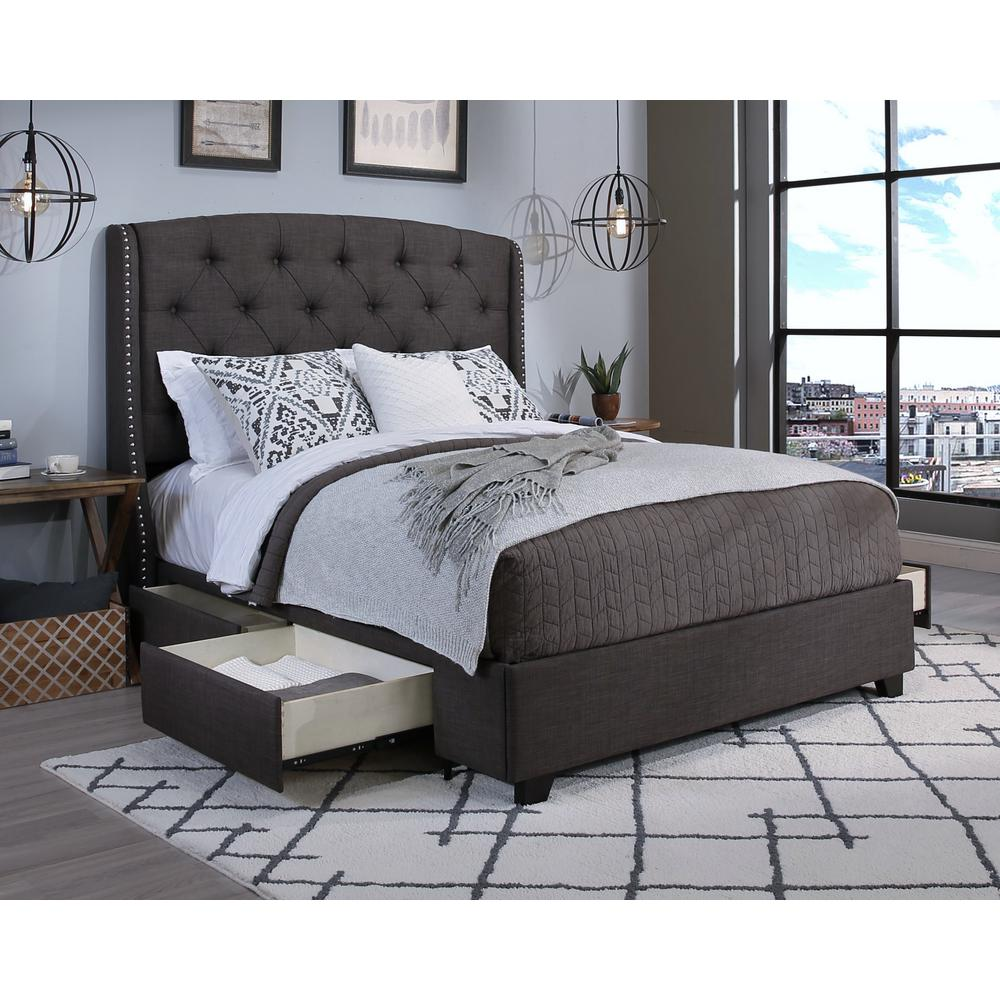 Awesome Grey Bed Frame Decorating Ideas