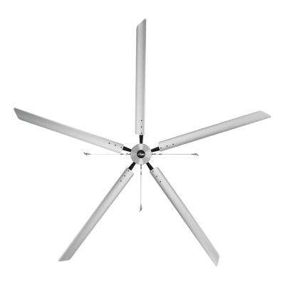 Titan 16 ft. 220-Volt Indoor Anodized Aluminum 3 Phase Commercial Ceiling Fan