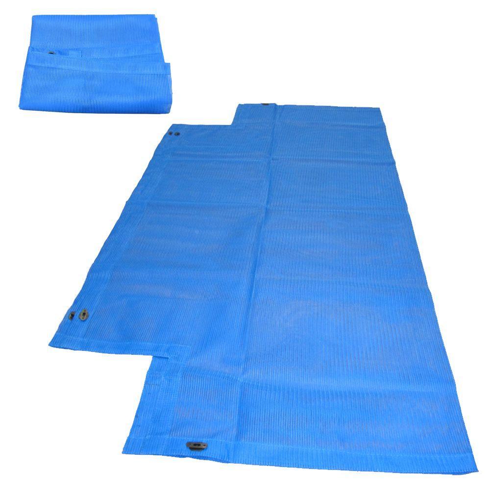 null 4 ft. x 4 ft. Blue Mesh Sandbox Cover