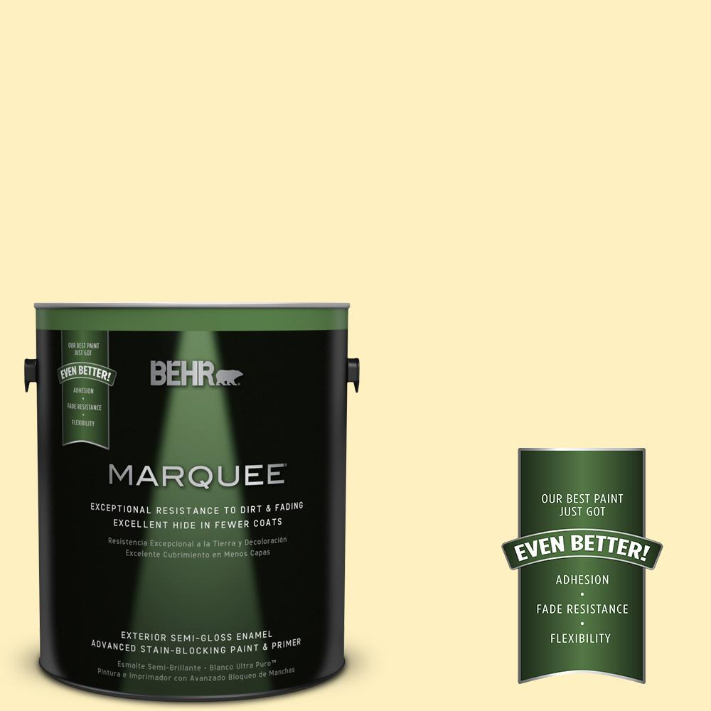1-gal. #P300-2 Meringue Semi-Gloss Enamel Exterior Paint