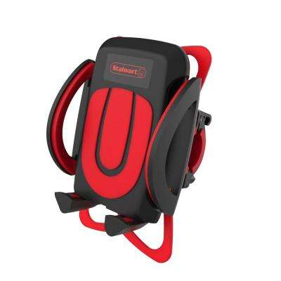 4 in. Bike Phone Mount in Black and Red