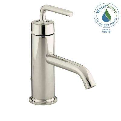 purist 1hole single handle lowarc bathroom vessel sink faucet with straight lever