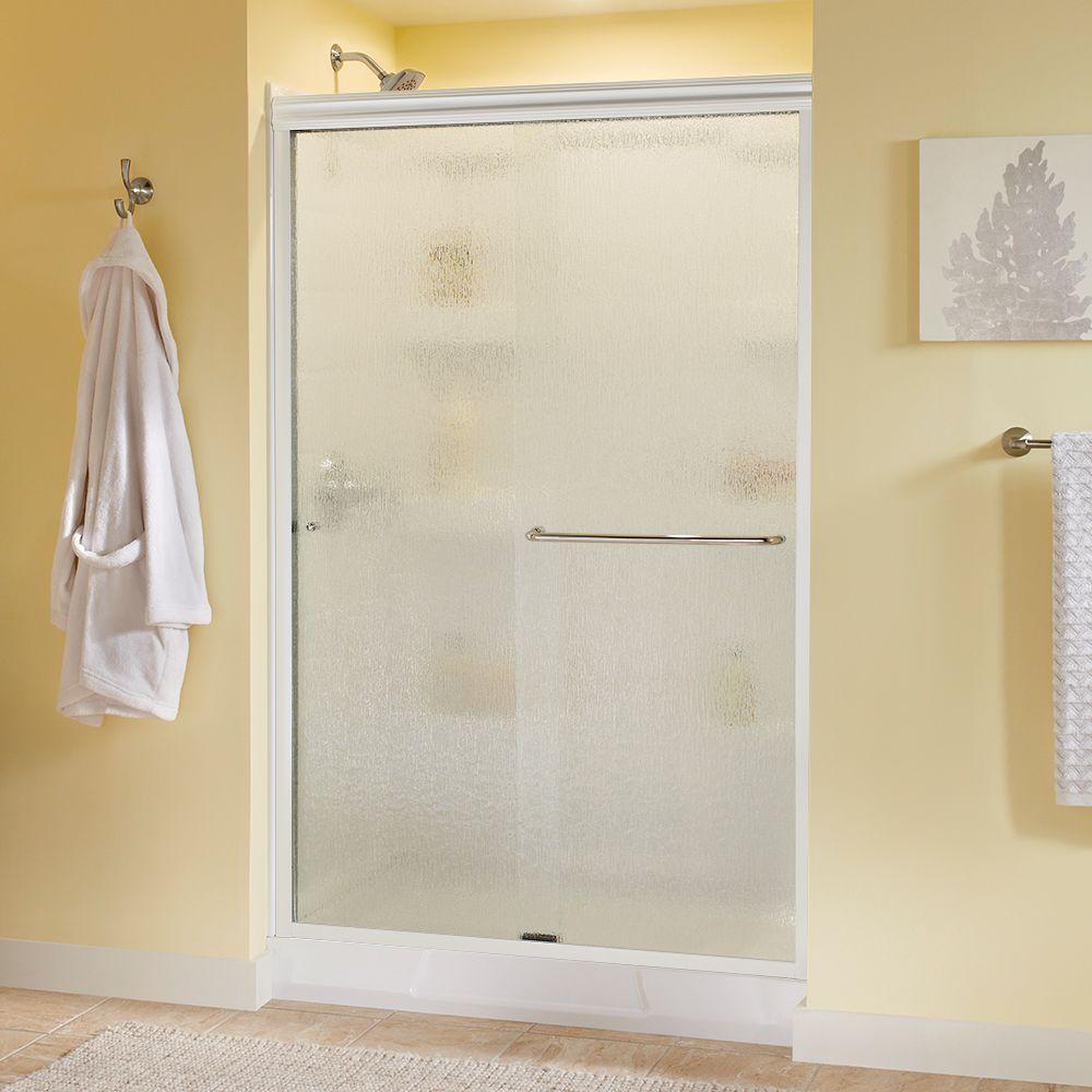 Simplicity 48 in. x 70 in. Semi-Frameless Sliding Shower Door in