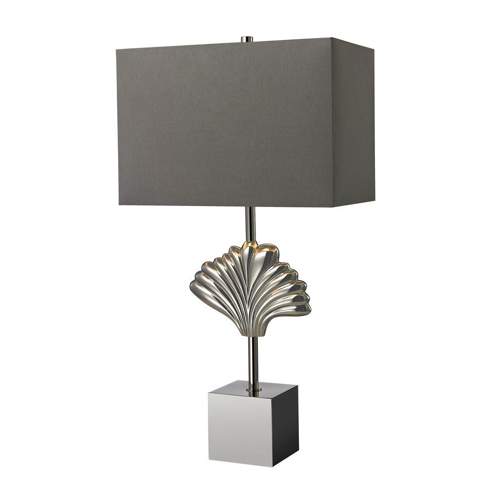 Titan Lighting Vergato 27 In Polished Chrome Solid Brass Table Lamp