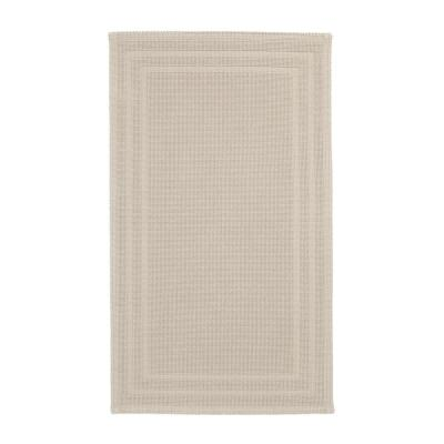 Legends Sterling Sand 24 in. x 17 in. Cotton Reversible Bath Mat