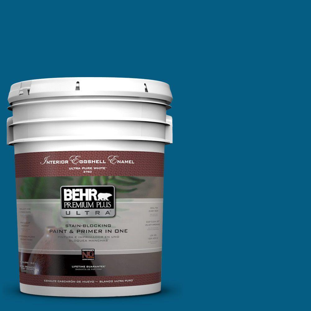 BEHR Premium Plus Ultra 5-gal. #S-H-550 Sapphire Sparkle Eggshell Enamel Interior Paint