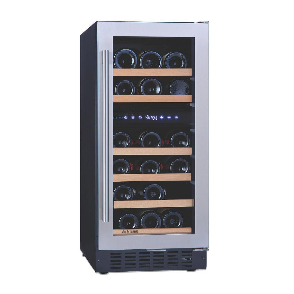 N'FINITY PRO SD 26-Bottle 15 in. Dual Zone Freestanding Wine Cellar