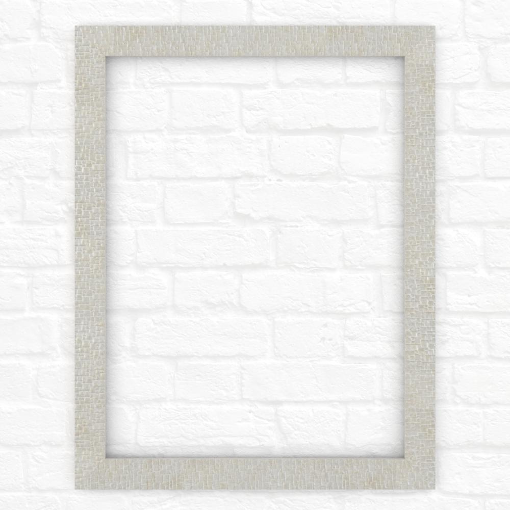 28 in. x 36 in. (M1) Rectangular Mirror Frame in Stone