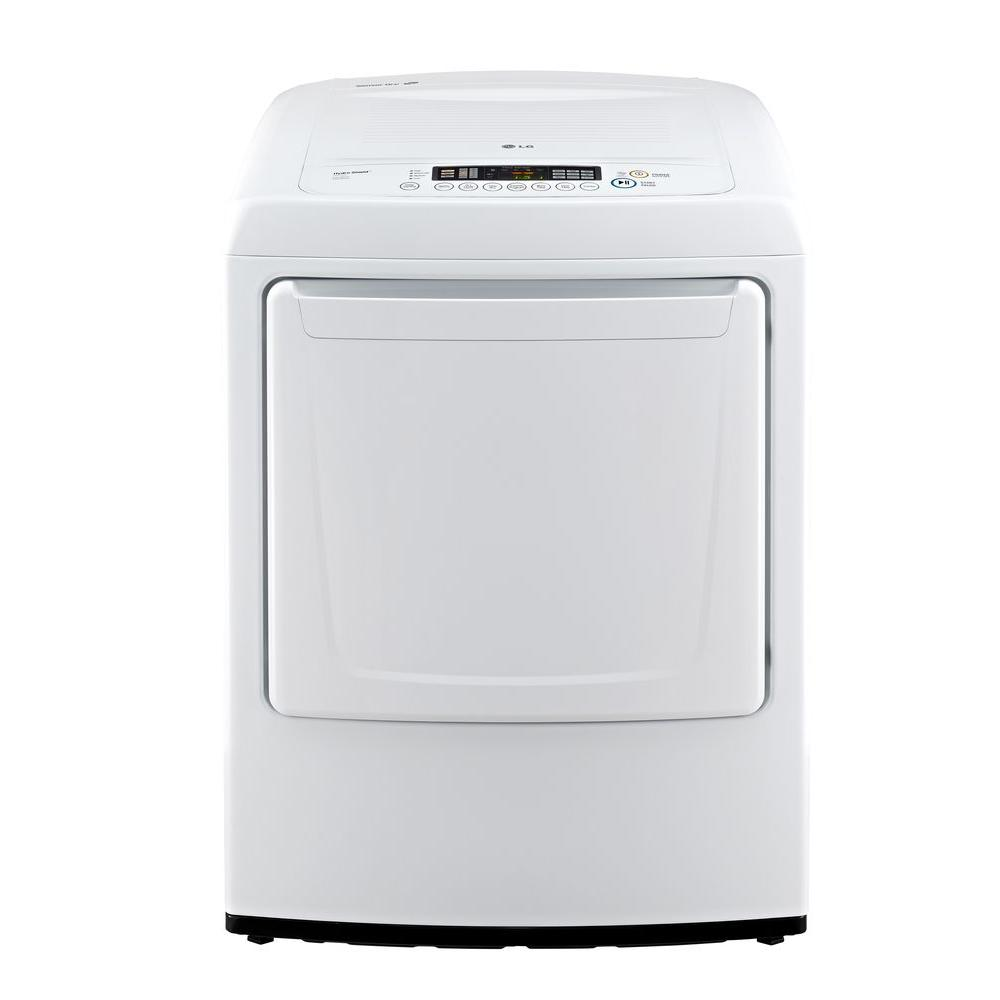 LG Electronics 7.3 cu. ft. Electric Dryer with Front Control in White