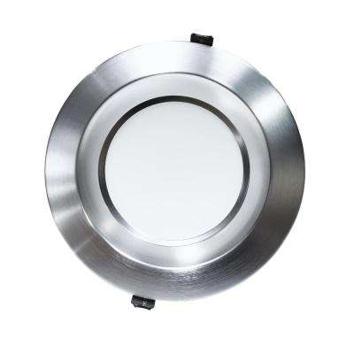 Housing-Free 8 in. Nickel Integrated LED Recessed Downlight Kit in 3500K