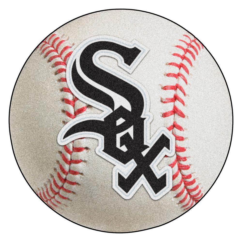 MLB Chicago White Sox Photorealistic 27 in. Round Baseball Mat