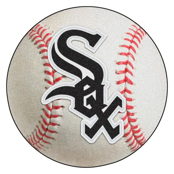 MLB Chicago White Sox Photorealistic 27 in. Round Baseball Mat