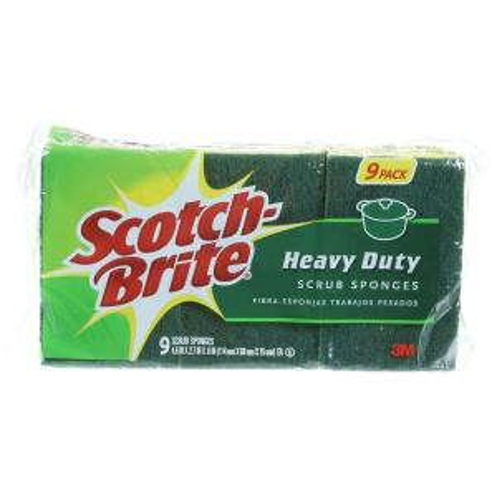 Heavy-Duty Scrub Sponge (9-Pack)