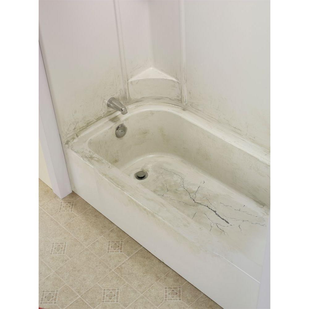 14 1 2 In W X 32 In L Bathtub Floor Repair Inlay Kit Bone Inlay