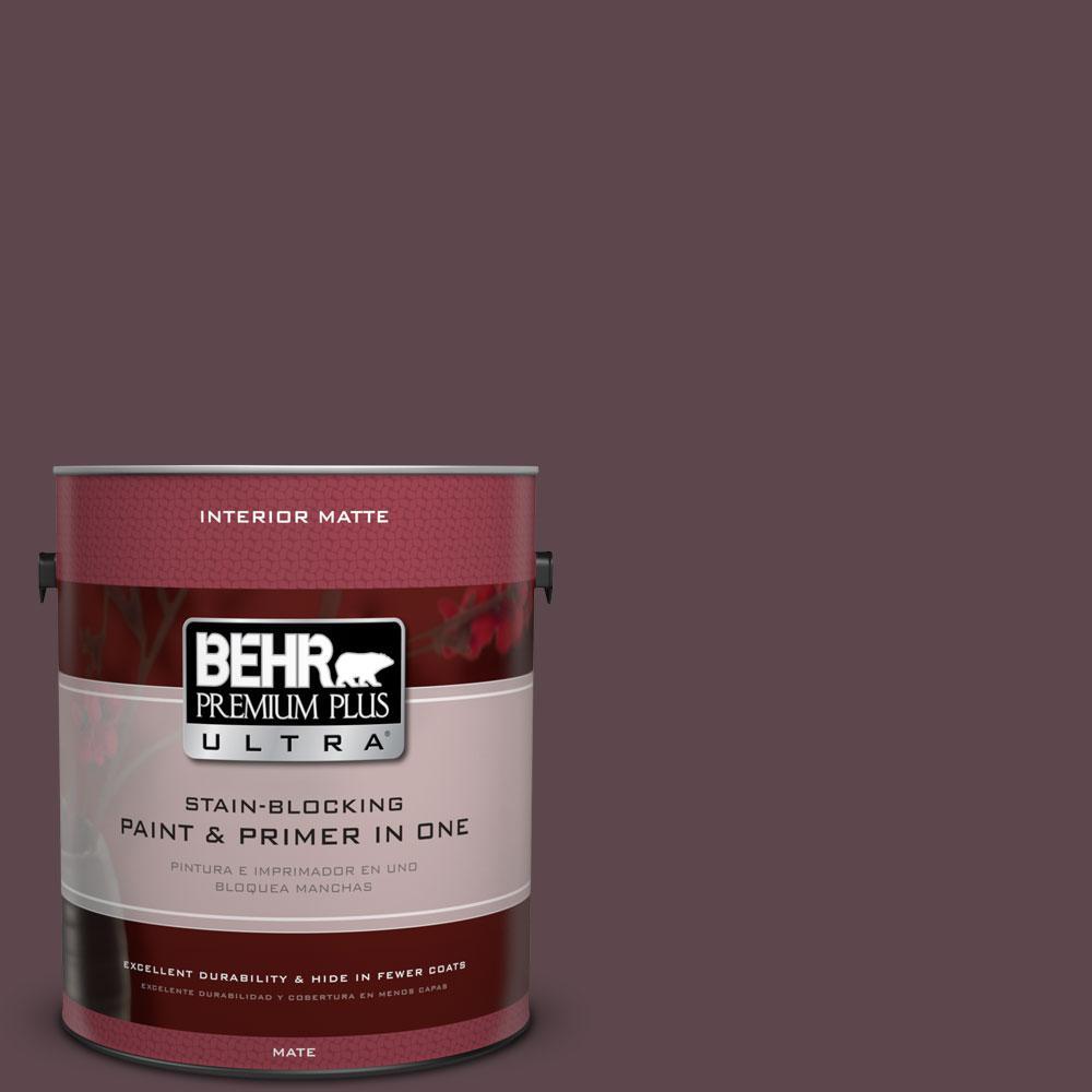 1 gal. #100F-7 Deep Aubergine Flat/Matte Interior Paint