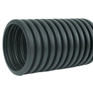 4 in  x 10 ft  Corrugated HDPE Drain Pipe Solid with Bell-End-4540010 - The  Home Depot