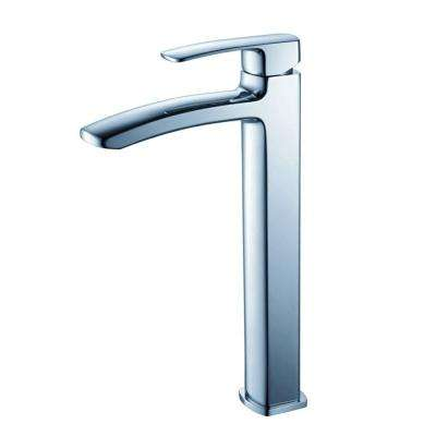 Fiora Single Hole 1-Handle Vessel Bathroom Faucet in Chrome