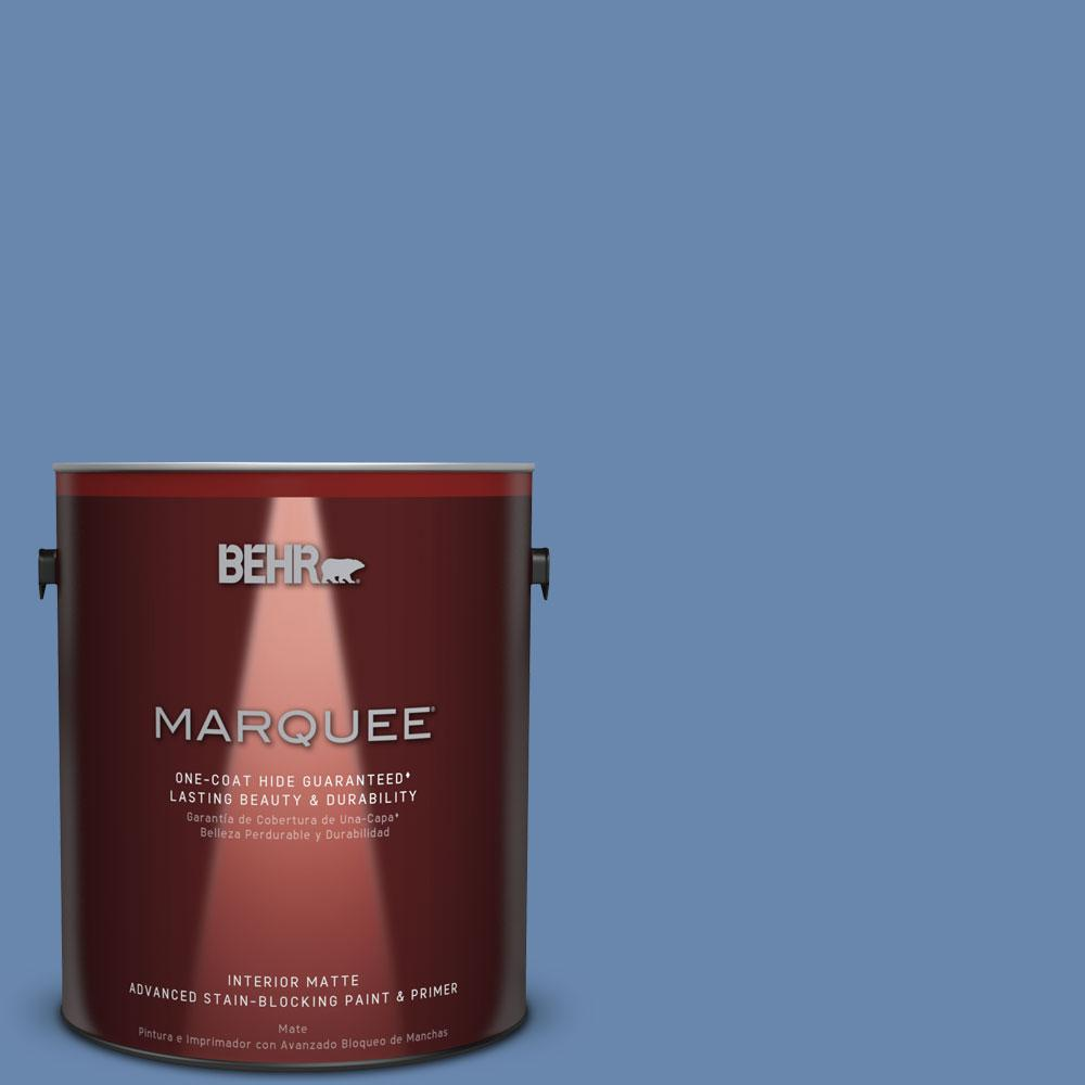 1 gal. #M530-5 Cowgirl Blue One-Coat Hide Matte Interior Paint
