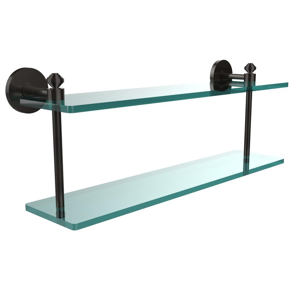 Allied Brass Southbeach Collection 22 in. 2-Tiered Glass Shelf in ...